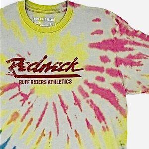 RUFF RIDER REDNECK Mens Vintage Gray Tie Dye Shirt